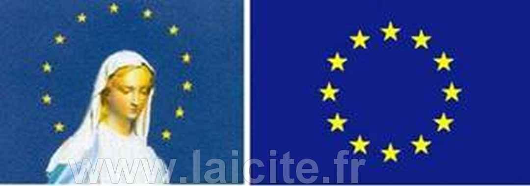 Conseil de l'Europe drapeau marial, bandeau