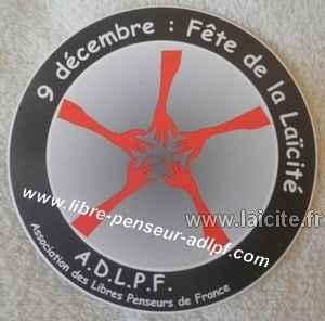 9 décembre, fête de la laïcité ADLPF