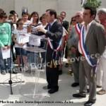 inauguration esplanade laïcité Arles mai 2012 élus
