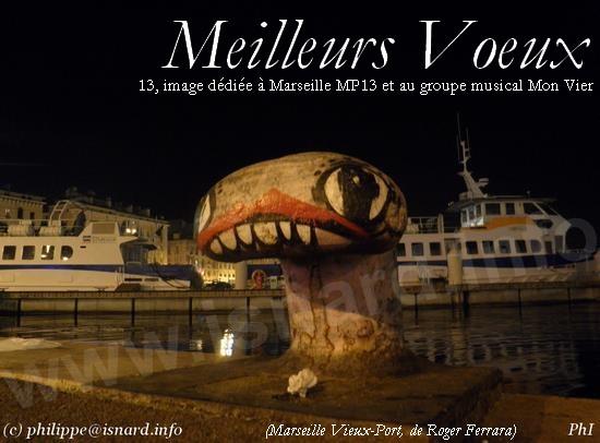 Vieux-Port, R. Ferrara, voeux 2014 © PhI