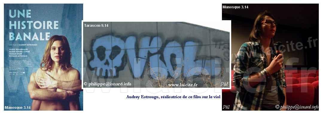 Viol, film, graph, réalisatrice 3 & 9.14 Manosque, Tarascon © PhI