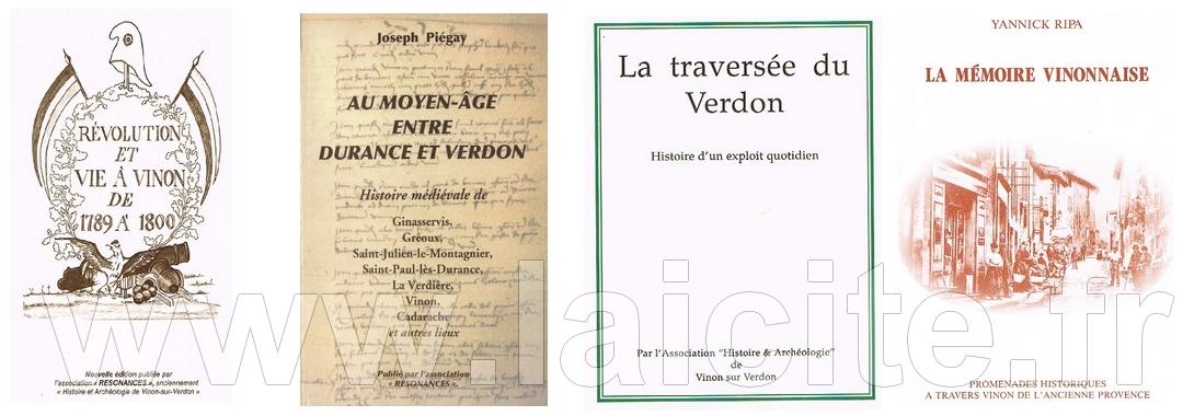 quatre livres sur Vinon (83)