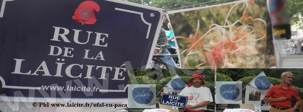 Arles (13) UFAL Familles LAIQUES Stand Fête Associations 21.9.14 © PhI