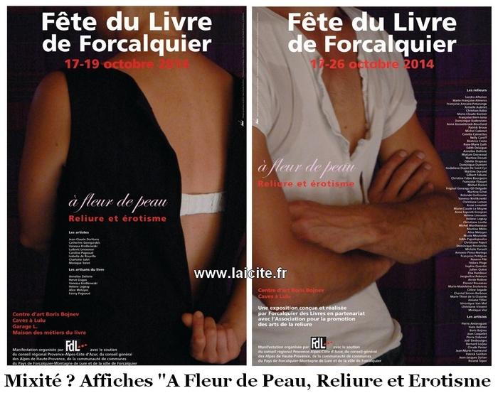 Reliure & Erotisme Forcalquier, oct. 2014 affiches