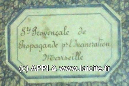 Sté Provençale Pour l'Incineration Marseille étiquette APPI