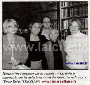 Homa Arjoman Marseille collectif 13 droits des femmes UFAL 28.10.05 laMarseillaise