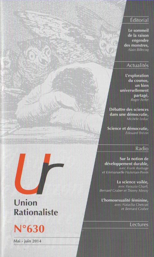 Cahiers Rationalistes, nouvelle couverture grise