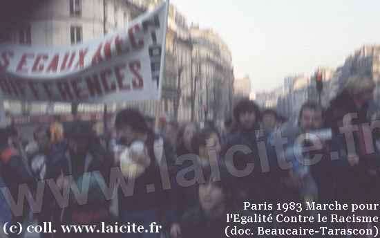 Marche Egalité Contre Racisme 1983 Paris (c) Laicite.fr