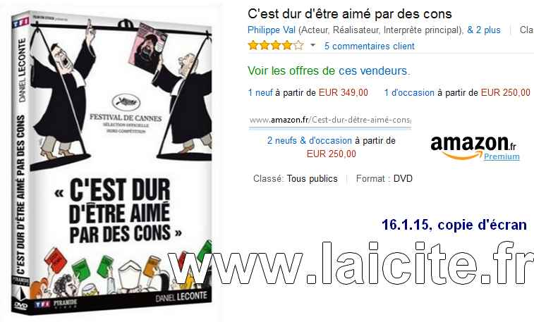 DVD Film Charlie-Hebdo vente Amazon