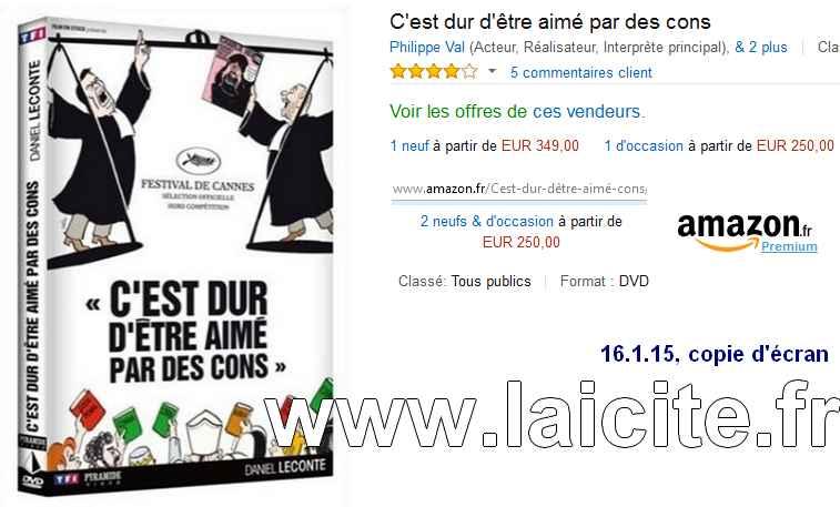DVD Film Charlie-Hebdo vente Amazon