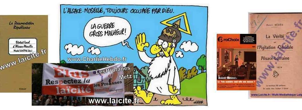 """""""Alsace-Moselle, toujours gouvernée par Dieu"""" Charb"""