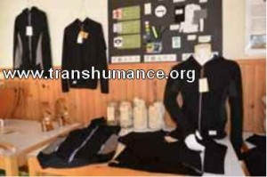 Prototypes de vêtements, laine de Mérinos d'Arles