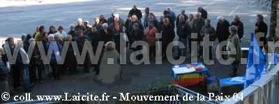 Château-Arnoux (04) Mouvement de la Paix