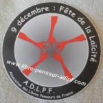 9 décembre Fête Laïcité LP-ADLPF autocollant