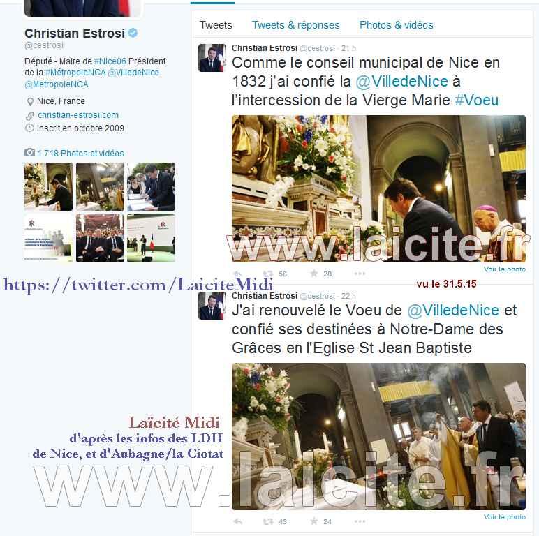 Nice M. Estrosi Voeu à la Vierge 31.5.15 Twitter