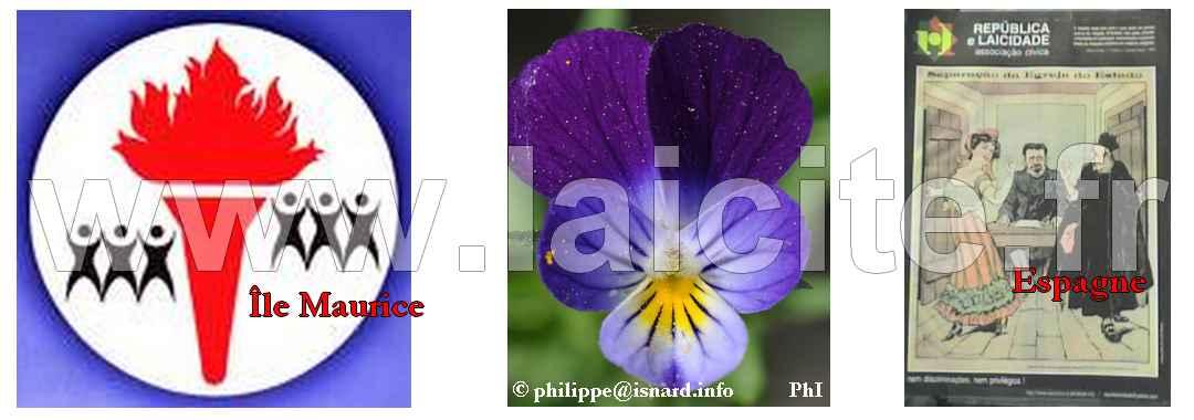 Europe & Monde Laïque (île Maurice, Portugal, France) © PhI & Laicite.fr 6.15