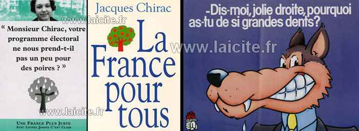 campagnes politiques France, loup, Chirac, Jospin