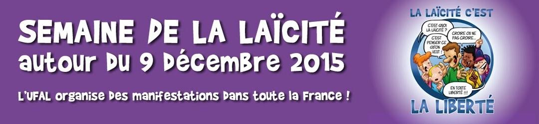 Laïcité Fête autour du 9 déc. 2015 UFAL