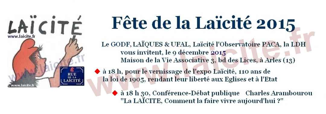Journée Laïcite Arles 9 déc. 2015