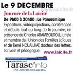 Journée laïcité Tarascon 9 déc. '15 in Tarasc'Info nov. 15