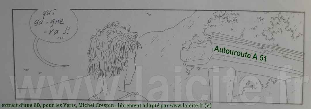 Crespin, A 51, dessin pour Les Verts © coll. PhI Laicite.fr
