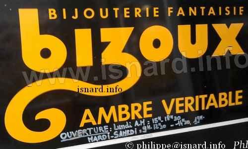 """""""Bizoux"""" (04) Manosque, boutique disparue 23.9.10 (c) PhI"""