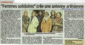 Femmes Solidaires d'Arles (13) laProvence 17.2.17