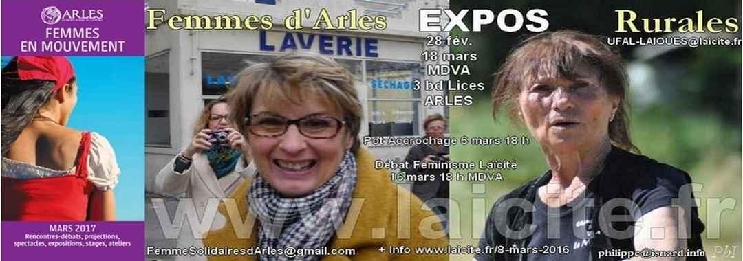 Expos Femmes d'Arles + Rurales 3.17
