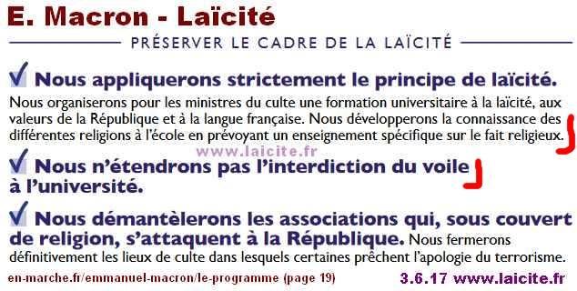 Macron, EnMarche et la Laïcité 6.17