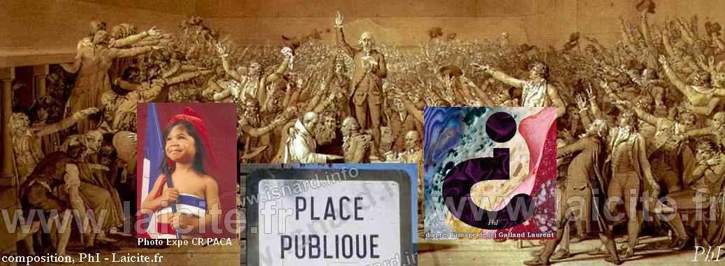 Question, Serment, Place Publique, composition © PhI