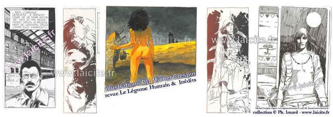 bando Michel Crespin BD, inédits & revue le Légume Humain