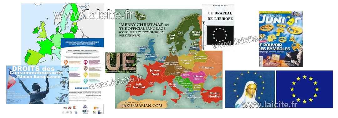 bandô Europe, UE, drapeau, etc. (c) laicite.fr
