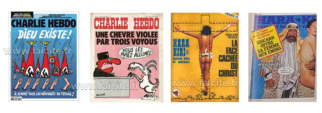couvertures CharlieHebdo et HaraKiri