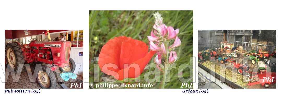 bando fleurs, tracteurs, couleur rouge, Gréoux (04) & Vinon (83) © PhI