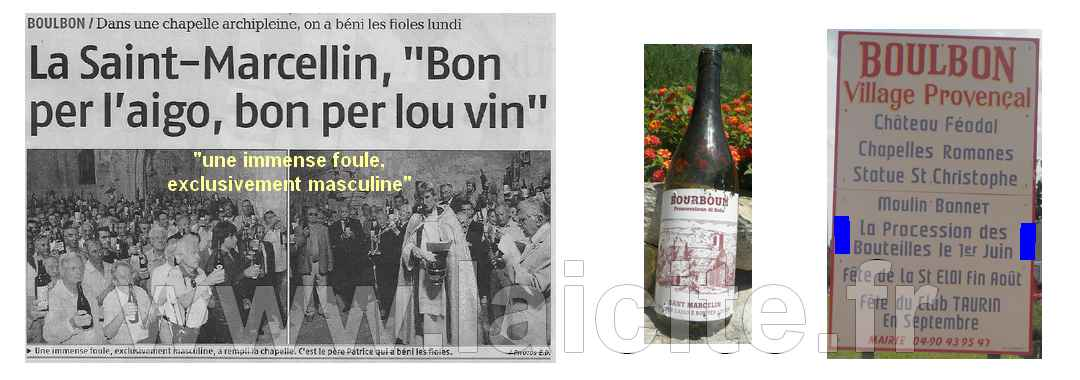 "Boulbon, ""foule exclusivement masculine"" 6.09 laProvence"