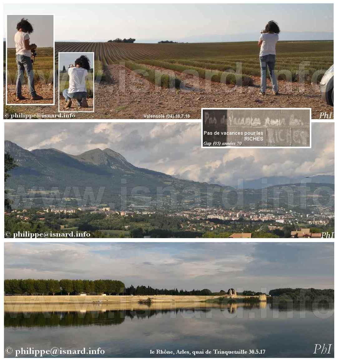 """""""Pas de vacances pour les RICHES"""" Valensole Gap Arles 2017-2018 © PhI"""