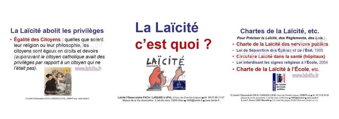 bando La Laïcité c'est quoi ? UFAL & Observatoire, diapo 4