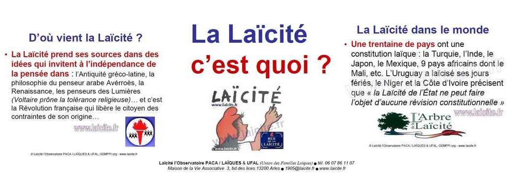 bando La Laïcité c'est quoi ? UFAL & Observatoire, couv'