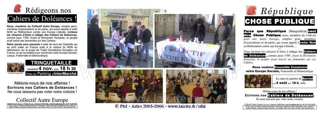 République Cahiers de Doléances 2005-06 Arles