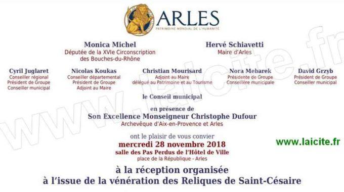 Arles. Réception Vénération des Reliques St-Césaire 28.11.18