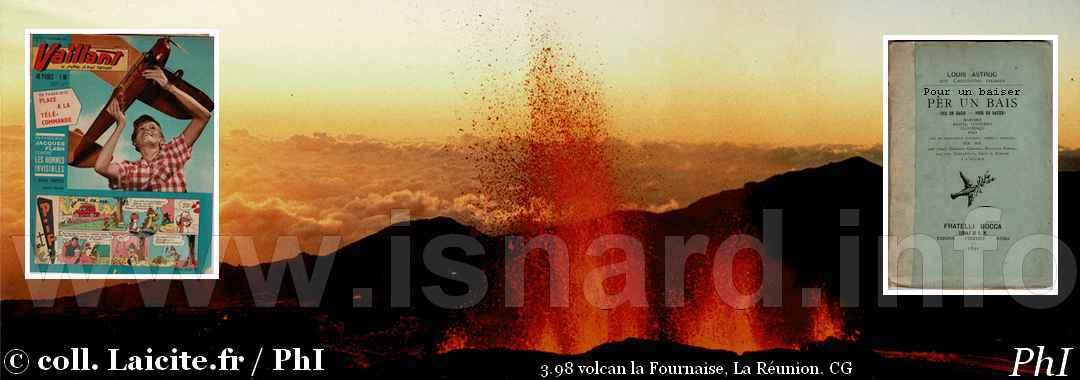 revue Vaillant, volcan laFournaise, Pour un baiser 1998-2018 © PhI