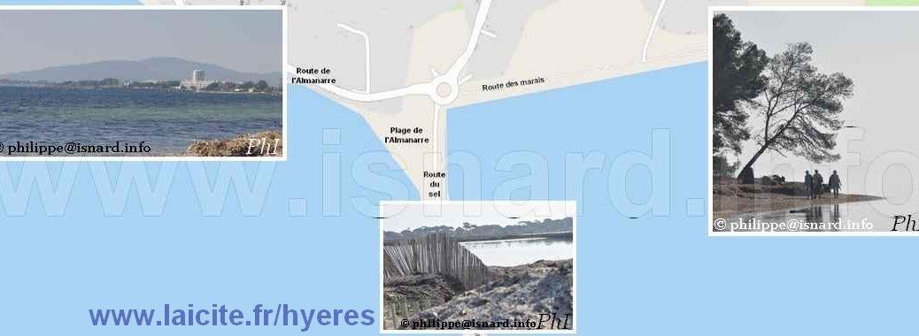 Hyères (83) carte et bords de mer 23 & 24.2.19 © PhI