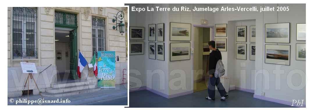 Expo Terre du Riz, Jumelage Arles-Vercelli 7.05 © PhI