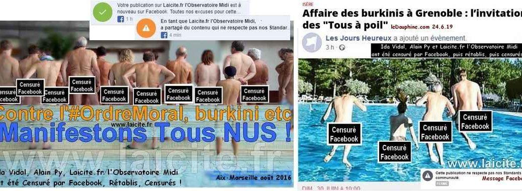 à Poil Contre Burkini 2016-2019 Aix-Marseille & Grenoble © Laicite.fr