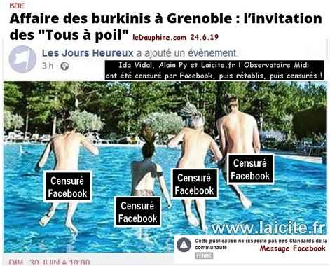 Tous à Poil ! Les Jours Heureux 6.19 Grenoble © Laicite.fr