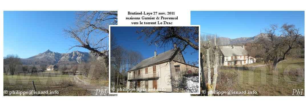 Brutinel-Laye (05) Maisons vers Le Drac 11.11 © PhI