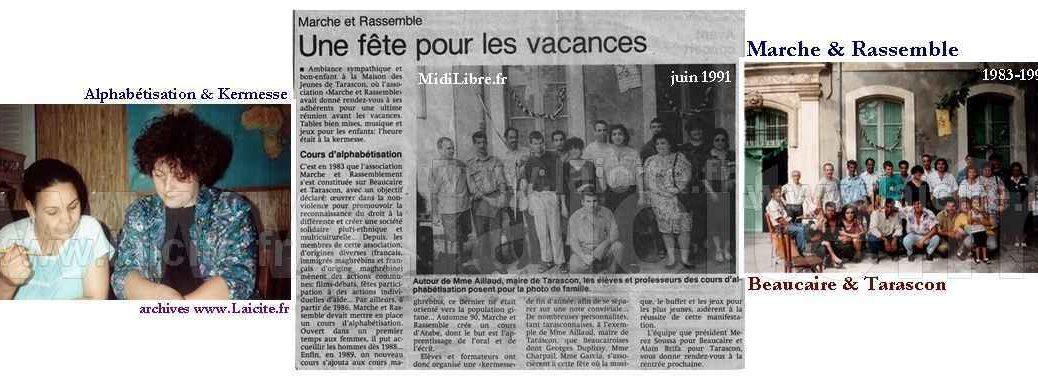 Marche & Rassemble 6.91 Beaucaire-Tarascon, archives © Laicite.fr
