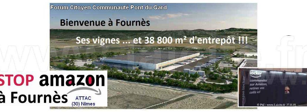 """projet de hangar """"Amazon"""" à (30) Fournès © Laicite.fr"""