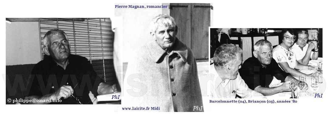 Feu Pierre Magnan, romancier, Barcelonnette (04) Briançon (05) années '80 © PhI