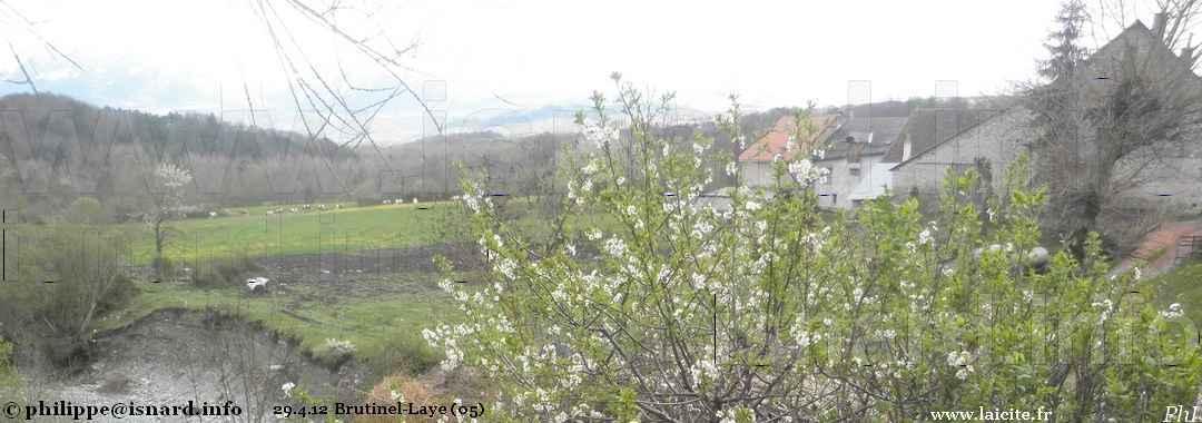 Brutinel / Laye (05) torrent & ferme Disdier 29.4.12 © PhI